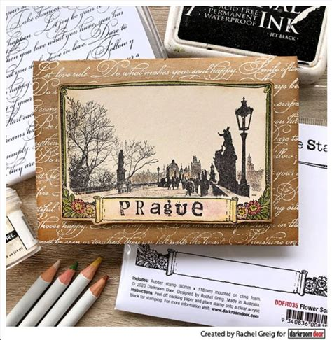 Flower Scroll Frame Stamp - Ciao*Carina