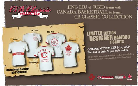Canada Basketball Launches CB Classic Collection by JUZD