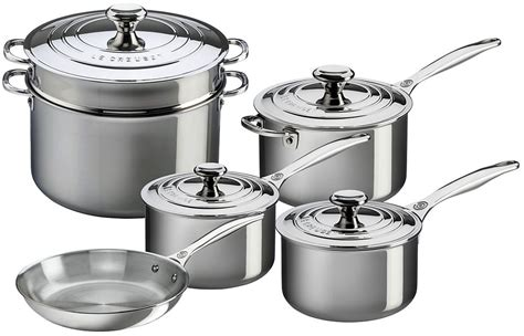 Le Creuset Stainless Steel 10 Piece Cookware Set SSP14110