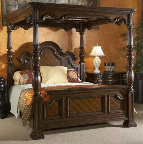 42 Elegant Vintage Canopy King Bed Designs Ideas With